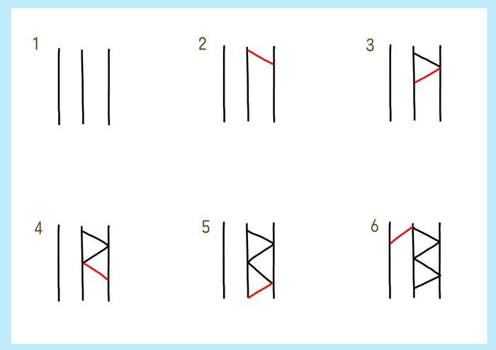 麻の葉の描き方-1