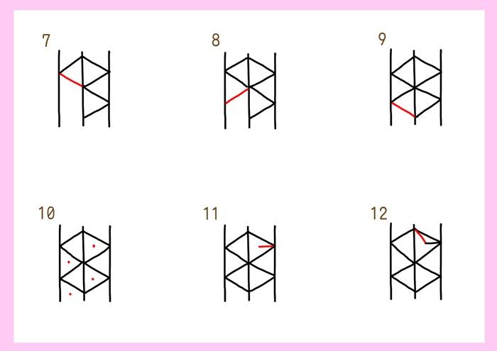 麻の葉の描き方-2